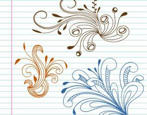 Doodle vector illustration Photoshop brush