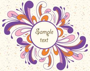 Doodle vector illustration with frame and typography Photoshop brush