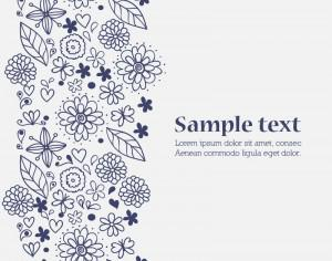 Doodle flower illustration  with typography Photoshop brush