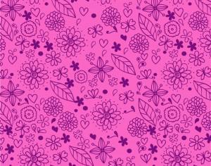 Doodle floral pattern Photoshop brush