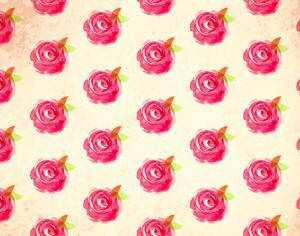 Watercolor vector pattern with rose Photoshop brush