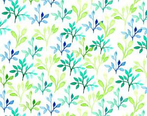 Watercolor vector pattern with leaves Photoshop brush