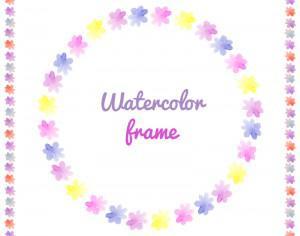 Watercolor vector frames  Photoshop brush