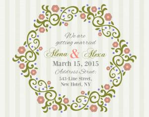 Invitation Card with background Photoshop brush