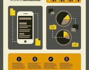 Set of business working elements for digital marketing Photoshop brush