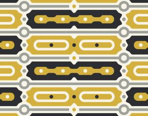 Gold and Black Bar Pattern Photoshop brush