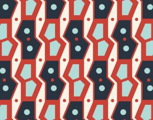 Retro Geometric Blue and Red Pattern Photoshop brush