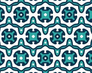 Ornate Blue and White Pattern Photoshop brush