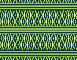 Geometric Green and White Pattern Photoshop brush