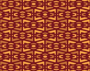 Yellow and Maroon Tribal Pattern Photoshop brush