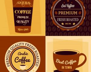 Coffee flat concept  Photoshop brush
