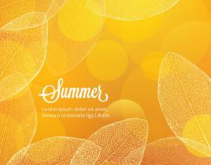 Summer illustration with leaves Photoshop brush