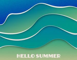 Summer waves  Photoshop brush