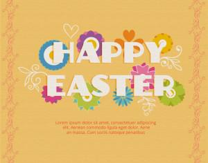 Easter illustration with flowers Photoshop brush