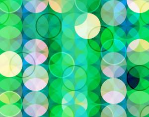 Green Abstract Circles Photoshop brush
