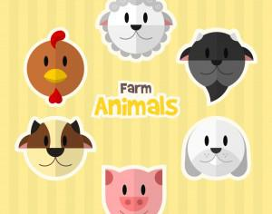 Farm Animals Photoshop brush