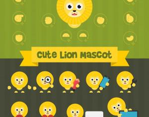 Cute Lion Mascot Kit Photoshop brush