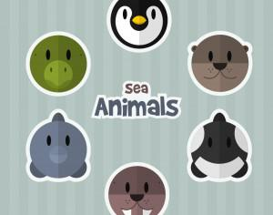 Sea Animals Photoshop brush