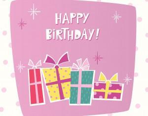 Happy Birthday card Photoshop brush