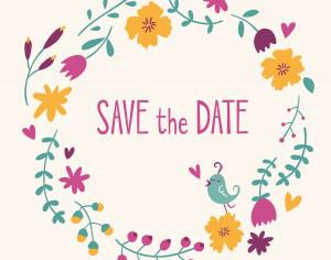Save the date vector card Photoshop brush