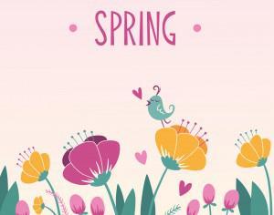 Spring floral background Photoshop brush