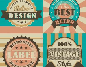 Set of retro vintage badges Photoshop brush