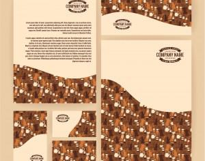 Set of business  templates for coffee shop. Vector background. Photoshop brush