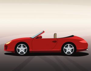 Vector illustration Red sports car Photoshop brush