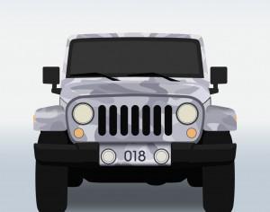 Vector illustration Military jeep Photoshop brush