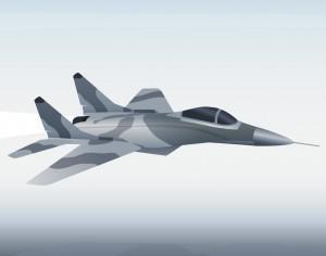 Vector illustration Military aircraft Photoshop brush