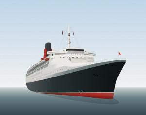 Vector illustration Ocean liner Photoshop brush