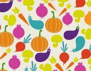 Food illustration with vegetables Photoshop brush