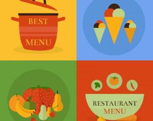 Food icon concept Photoshop brush