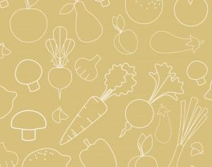 Seamless pattern with food vegetables elements Photoshop brush