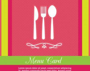 Restaurant Menu Card Design Template Photoshop brush