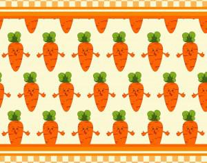 Carrot vector illustration, pattern Photoshop brush
