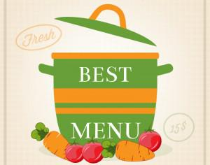 Vegetarian restaurant illustration Photoshop brush
