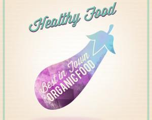 Healthy food illustration of watercolor eggplant Photoshop brush