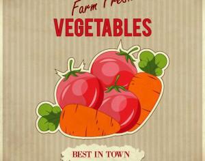 Vegetables retro illustration Photoshop brush
