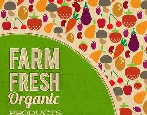 Fruits and vegetables illustration Photoshop brush