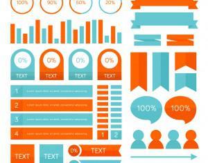 Infographic elements Photoshop brush