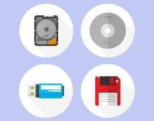 Digital storage devices icons Photoshop brush