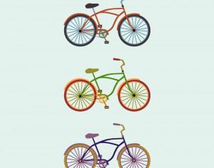 Colorful Bikes Photoshop brush
