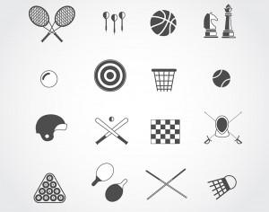 Sport free vector icons set for web. Free design Photoshop brush