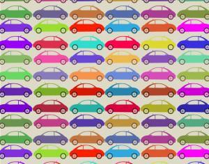 Retro pattern with cars Photoshop brush
