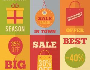 Sale flat concept design icons, shopping Photoshop brush