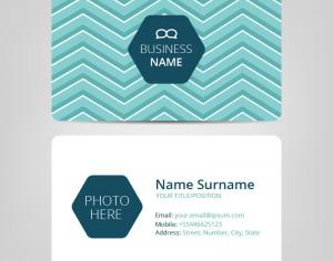 Business card template Photoshop brush