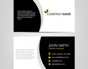Vector abstract business cards  Photoshop brush