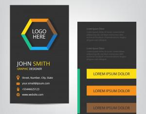 Vertical Business Card Photoshop brush
