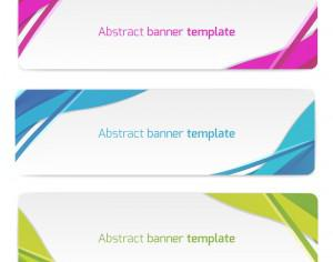 Abstract vector banners Photoshop brush